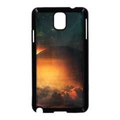 Saturn Rings Fantasy Art Digital Samsung Galaxy Note 3 Neo Hardshell Case (black)