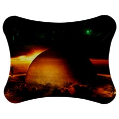 Saturn Rings Fantasy Art Digital Jigsaw Puzzle Photo Stand (Bow)