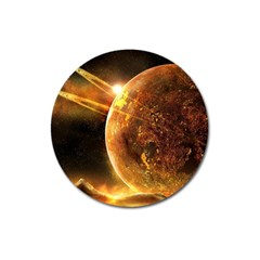 Sci Fi Planet Magnet 3  (round)
