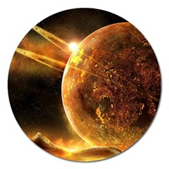 Sci Fi Planet Magnet 5  (round)