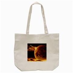 Sci Fi Planet Tote Bag (cream)