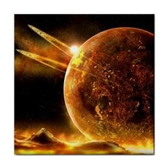 Sci Fi Planet Face Towel