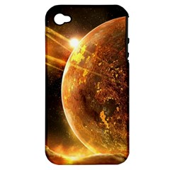 Sci Fi Planet Apple Iphone 4/4s Hardshell Case (pc+silicone)