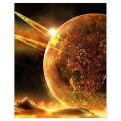 Sci Fi Planet Drawstring Bag (small)