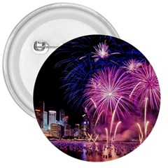 Singapore New Years Eve Holiday Fireworks City At Night 3  Buttons