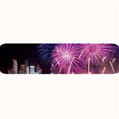 Singapore New Years Eve Holiday Fireworks City At Night Large Bar Mats