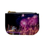 Singapore New Years Eve Holiday Fireworks City At Night Mini Coin Purses Front