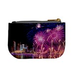 Singapore New Years Eve Holiday Fireworks City At Night Mini Coin Purses Back