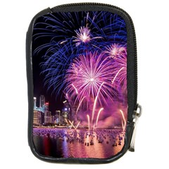 Singapore New Years Eve Holiday Fireworks City At Night Compact Camera Cases