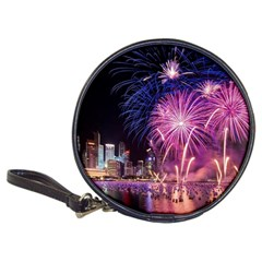 Singapore New Years Eve Holiday Fireworks City At Night Classic 20 Cd Wallets