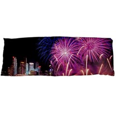 Singapore New Years Eve Holiday Fireworks City At Night Body Pillow Case Dakimakura (two Sides)