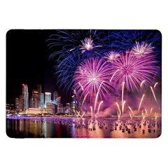 Singapore New Years Eve Holiday Fireworks City At Night Samsung Galaxy Tab 8 9  P7300 Flip Case