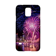 Singapore New Years Eve Holiday Fireworks City At Night Samsung Galaxy S5 Hardshell Case