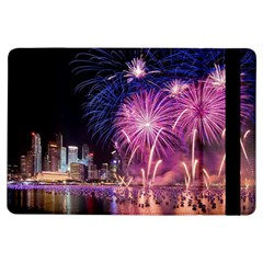 Singapore New Years Eve Holiday Fireworks City At Night Ipad Air Flip