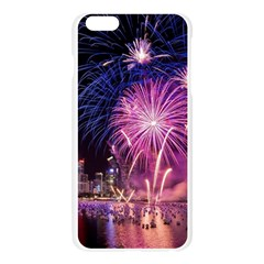 Singapore New Years Eve Holiday Fireworks City At Night Apple Seamless iPhone 6 Plus/6S Plus Case (Transparent)