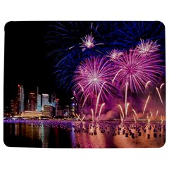 Singapore New Years Eve Holiday Fireworks City At Night Jigsaw Puzzle Photo Stand (Rectangular)
