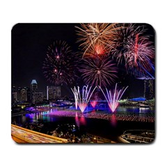 Singapore The Happy New Year Hotel Celebration Laser Light Fireworks Marina Bay Large Mousepads