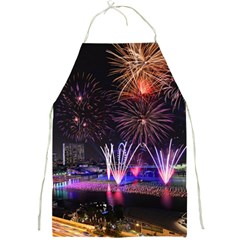Singapore The Happy New Year Hotel Celebration Laser Light Fireworks Marina Bay Full Print Aprons