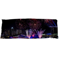 Singapore The Happy New Year Hotel Celebration Laser Light Fireworks Marina Bay Body Pillow Case Dakimakura (two Sides)