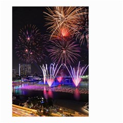 Singapore The Happy New Year Hotel Celebration Laser Light Fireworks Marina Bay Small Garden Flag (two Sides)