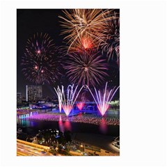 Singapore The Happy New Year Hotel Celebration Laser Light Fireworks Marina Bay Large Garden Flag (two Sides)