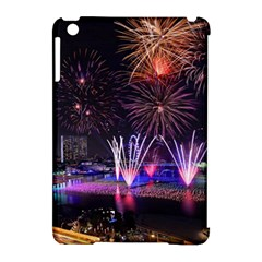 Singapore The Happy New Year Hotel Celebration Laser Light Fireworks Marina Bay Apple Ipad Mini Hardshell Case (compatible With Smart Cover)