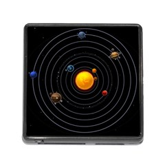 Solar System Memory Card Reader (square)