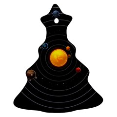 Solar System Christmas Tree Ornament (two Sides)