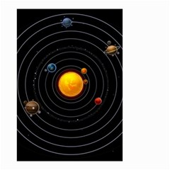 Solar System Small Garden Flag (two Sides)