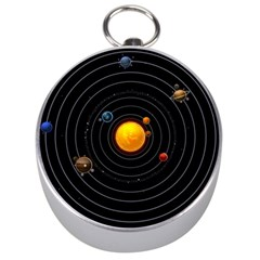 Solar System Silver Compasses