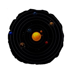 Solar System Standard 15  Premium Flano Round Cushions