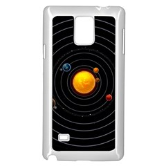 Solar System Samsung Galaxy Note 4 Case (white)