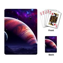 Space Art Nebula Playing Card