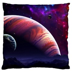 Space Art Nebula Standard Flano Cushion Case (two Sides)
