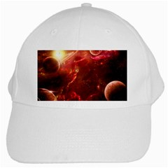 Space Red White Cap