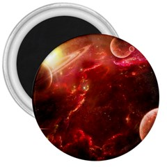 Space Red 3  Magnets