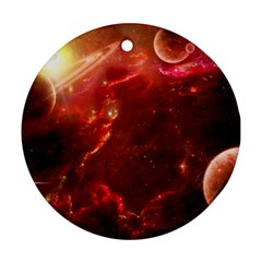 Space Red Ornament (round)