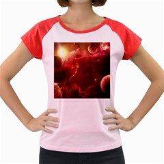 Space Red Women s Cap Sleeve T Shirt