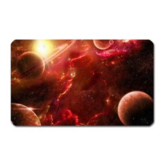 Space Red Magnet (rectangular)