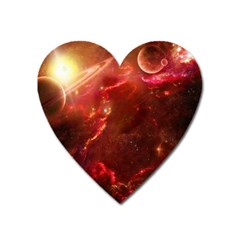 Space Red Heart Magnet