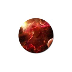 Space Red Golf Ball Marker (4 Pack)