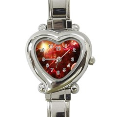 Space Red Heart Italian Charm Watch