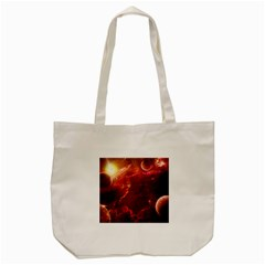 Space Red Tote Bag (cream)