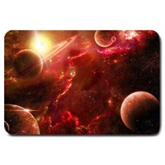 Space Red Large Doormat