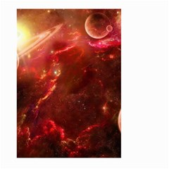 Space Red Large Garden Flag (two Sides)