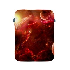 Space Red Apple iPad 2/3/4 Protective Soft Cases