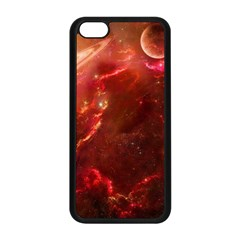 Space Red Apple Iphone 5c Seamless Case (black)