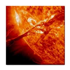 Spectacular Solar Prominence Face Towel