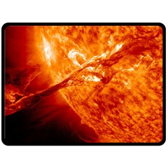 Spectacular Solar Prominence Fleece Blanket (large)