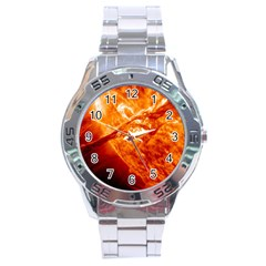 Spectacular Solar Prominence Stainless Steel Analogue Watch